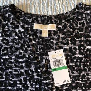 Michael Kors Women's Large Leopard Print Blouse